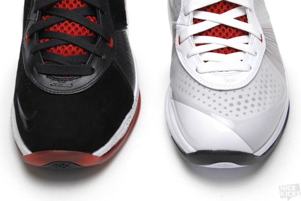 lebron 8 v1. the second version of nike lebron 8, 8 v2, is already upon us. radically different and yet utterly familiar, v2 owns many characteristics lebron v1